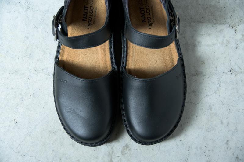NAOTさんの靴 OLGA(オルガ) Matt Blackのつま先のアップ写真